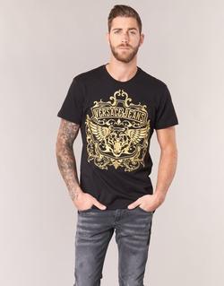 Abbigliamento Uomo T-shirt maniche corte Versace Jeans B3GQB7T2 Nero / Dore