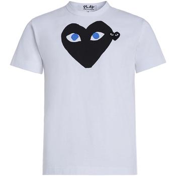 Abbigliamento Uomo T-shirt & Polo Comme Des Garcons T-shirt  bianca con cuore nero Bianco