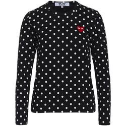 Abbigliamento Donna T-shirt & Polo Comme Des Garcons T-shirt  nera con pois bianchi Nero