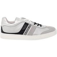 Scarpe Uomo Sneakers basse Bikkembergs Sneakers  in pelle argento,nero,multicolore