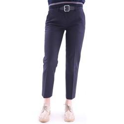 Abbigliamento Donna Chino Moncler PANTALONE  BLU IN COTONE STRETCH Blue
