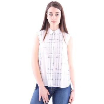 Abbigliamento Donna Top / Blusa Le Sarte Pettegole CAMICIA SMANICATA White
