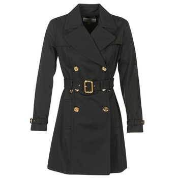 Abbigliamento Donna Trench MICHAEL Michael Kors PLEATED TRENCH Nero