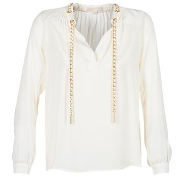 Abbigliamento Donna Top / Blusa MICHAEL Michael Kors SLIT L/S CHAIN Crema