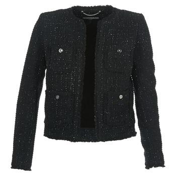 Abbigliamento Donna Giacche / Blazer MICHAEL Michael Kors FRAY TWD 4PKT JKT Nero / Argento