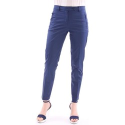 Abbigliamento Donna Pantaloni Seventy PANTALONE  BLU IN RASATELLO DI COTONE Blue
