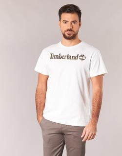 Abbigliamento Uomo T-shirt maniche corte Timberland DUNSTAN RIVER CAMO PRINT Bianco