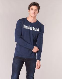 Abbigliamento Uomo T-shirts a maniche lunghe Timberland LINEAR LOGO PRINT RINGER Marine