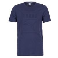 Abbigliamento Uomo T-shirt maniche corte Puma ARCHIVE EMBOSSED LOGO TEE Marine
