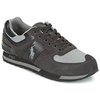 Scarpe Uomo Sneakers basse Ralph Lauren SLATON PONY Nero / Grigio