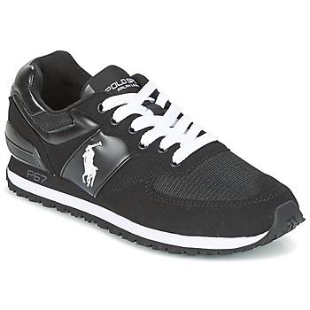 Scarpe Uomo Sneakers basse Ralph Lauren SLATON PONY Nero