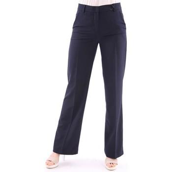 Abbigliamento Donna Pantaloni Seventy PANTALONE LARGO  IN TESSUTO TECNICO BLU Blue