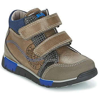 Scarpe Bambino Sneakers alte Pablosky DENTELY Grigio / Blu