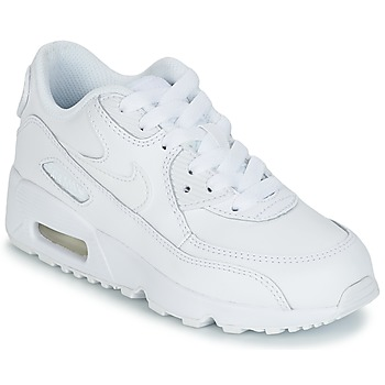 Scarpe Unisex bambino Sneakers basse Nike AIR MAX 90 LEATHER PRE-SCHOOL Bianco