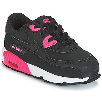 Scarpe Bambina Sneakers basse Nike AIR MAX 90 LEATHER TODDLER Nero / Rosa