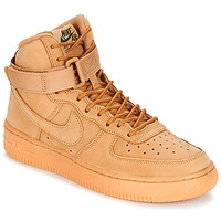 Scarpe Bambino Sneakers alte Nike AIR FORCE 1 HIGH WB GRADE SCHOOL Miele