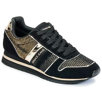 Scarpe Donna Sneakers basse Versace Jeans LETRE Nero / DORE