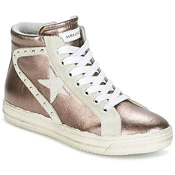 Scarpe Donna Sneakers alte Meline POLARE Bronzo