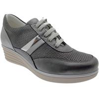 Scarpe Donna Trekking Loren C3742 scarpa donna lacci ortopedica grigio plantare sneaker grigio
