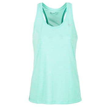 Abbigliamento Donna Top / T-shirt senza maniche Under Armour TECH TANK - SOLID Verde