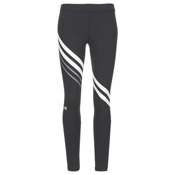 Abbigliamento Donna Leggings Under Armour FAVORITE LEGGING ENGINEERED Nero / Bianco