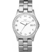Orologi Donna Orologio Analogico Marc by Marc Jacobs Orologio Donna Marc By  Henry MBM3044 Lunetta con strass Argento