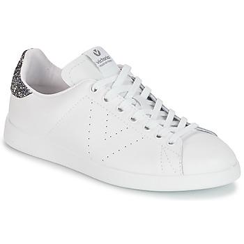 Scarpe Donna Sneakers basse Victoria DEPORTIVO BASKET PIEL Bianco / Grigio