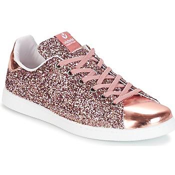 Scarpe Donna Sneakers basse Victoria DEPORTIVO BASKET GLITTER Rosa