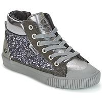 Scarpe Bambina Sneakers alte Victoria BOTA PIEL PU/GLITTER Argento