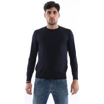 Abbigliamento Uomo T-shirts a maniche lunghe H953 MAGLIA  BLU Blue