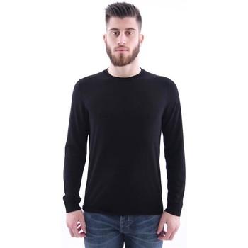 Abbigliamento Uomo T-shirts a maniche lunghe H953 MAGLIA  NERA Black