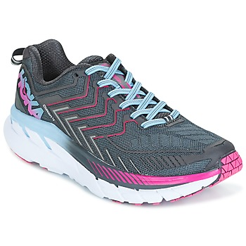 Scarpe Donna Running / Trail Hoka one one CLIFTON 4 Grigio