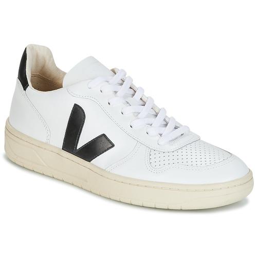 Veja V-10 Bianco / Nero  Scarpe Sneakers basse  100