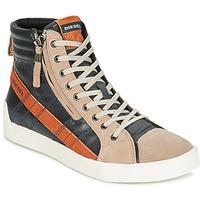 Scarpe Uomo Sneakers alte Diesel D-STRING PLUS Antracite / Camel