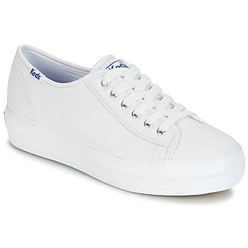 Scarpe Donna Sneakers basse Keds TRIPLE KICK CORE LEATHER Bianco