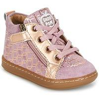 Scarpe Bambina Sneakers alte Shoo Pom BOUBA BI ZIP Rosa / Cuivré
