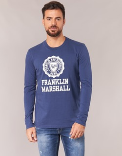 Abbigliamento Uomo T-shirts a maniche lunghe Franklin & Marshall DESTU Marine