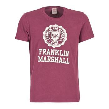 Abbigliamento Uomo T-shirt maniche corte Franklin & Marshall GRAVI Bordeaux