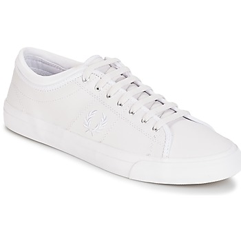 Scarpe Uomo Sneakers basse Fred Perry KENDRICK TIPPED CUFF LEATHER Bianco
