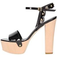 Scarpe Donna Sandali Emporio Di Parma 820 Sandalo Donna Nero Nero
