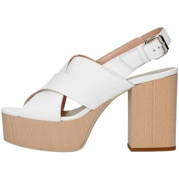 Scarpe Donna Sandali Emporio Di Parma 826 Sandalo Donna Bianco Bianco