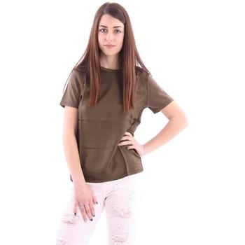 Abbigliamento Donna Top / Blusa Aspesi T-SHIRT  IN COTONE E SETA VERDONE Green