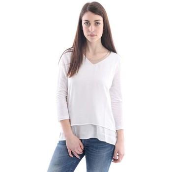 Abbigliamento Donna Top / Blusa White.7 MAGLIA  SCOLLO A V BIANCA White