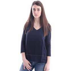 Abbigliamento Donna Top / Blusa White.7 MAGLIA  SCOLLO A V BLU Blue