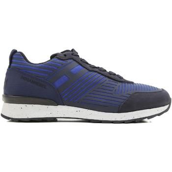 Scarpe Uomo Sneakers basse Hogan Sneakers  rebel uomo in pelle e tessuto blu blu acceso