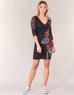 Abbigliamento Donna Abiti corti Desigual GRAFE Nero