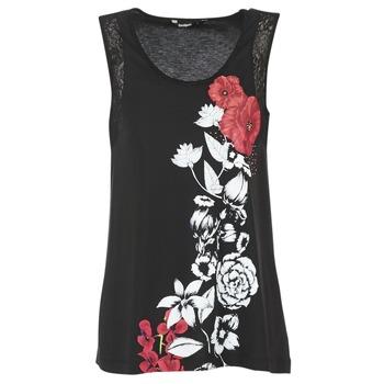 Abbigliamento Donna Top / T-shirt senza maniche Desigual MAGEIS Nero