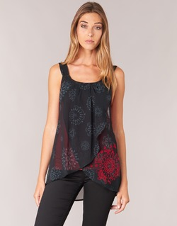 Abbigliamento Donna Top / T-shirt senza maniche Desigual MEGEC Nero / Rosso