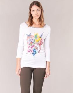 Abbigliamento Donna T-shirts a maniche lunghe Desigual TERON Bianco