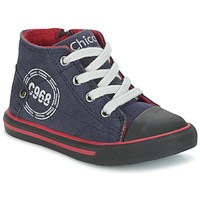 Scarpe Bambino Sneakers alte Chicco CRITTER MARINE / Nero / Rosso